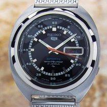 Seiko 5 Sports Automatic 7019-7050 Day Date Vintage Rare Big...