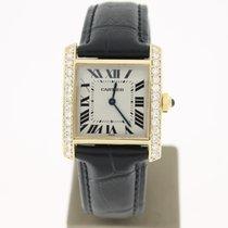 Cartier TankFrancaise 18KYelllowGold AftersetDiamonds (B&P...