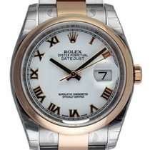 Rolex - Datejust : 116201 white dial on heavy Oyster bracelet...