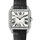 Cartier Santos Dumont Ladies 18K Solid White Gold Diamonds