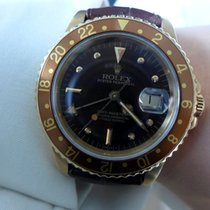Rolex Vintage GMT Master Yellow Gold Brown Dial 16758