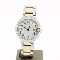 Cartier Ballon Bleu Steel/Gold 28mm (B&P2011) Aftersetting...