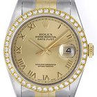 Rolex Men's Steel Rolex Datejust Watch 16233 Champagne Dial