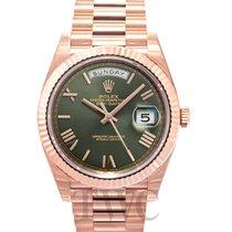 勞力士 (Rolex) Day-Date 40 Olive Green/18k Rose Gold 40mm - 228235