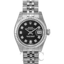 Rolex Lady Datejust Black Dial Jubilee Bracelet - 179174