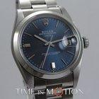 Rolex OYSTER PERPETUAL DATE MODELE 1500 CADRAN BLEU BRAC. OYSTER