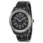 Perrelet Classic Eve Black Dial Diamond Ceramic Ladies Watch