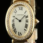 Cartier New Baignoire Wb520019 Small 18k Yellow Gold Special...