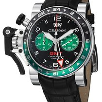 Graham Chronofighter Oversize GMT Steel 2OVGS.B12A