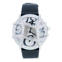 Cartier Ronde Folle Libre 18k White Gold Diamond Watch $55k...