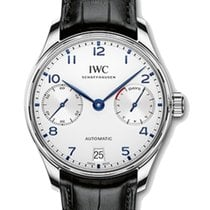IWC Schaffhausen IW500705 Portugieser Automatic Silver Plated...