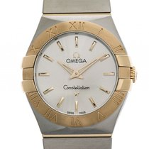 Omega Constellation Stahl/18 kt Gelbgold Brushed Quarz 27 mm