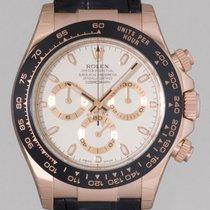 Rolex Daytona 116515 Rose Gold Ivory Dial Ceramic Bezel On Strap