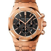 Audemars Piguet Royal Oak 41mm chrono - rose gold - black dial...