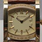 Bulgari Assioma AA39G 30mm 18k Yellow Gold .750 Brown Crocodil...