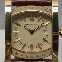 Bulgari Assioma AA39G 30mm 18k Yellow Gold .750 Brown Crocodil...