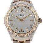 Ebel Wave Stahl Gelbgold Perlmutt Quarz Armband Stahl Gelbgold...