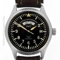 IWC stainless steel UTC TZC Pilot's watch