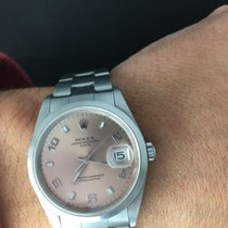 "Rolex Date oyster perpetual "" Y"" serial  salmon dial"