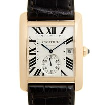 Cartier Tank 18k Rose Gold Silvery White Automatic W5330001