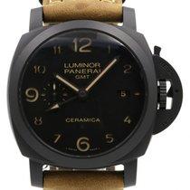 Panerai PAM 441 Luminor 1950 44mm Black Ceramic Leather BOX...