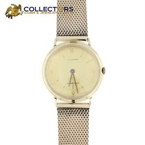 Hamilton 14k Solid Gold  Watch Seconds 10k Gf Mesh Band...