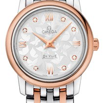 Omega DeVille Prestige 18K Rose Gold / Steel Diamond
