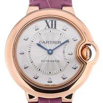 Cartier Ballon Bleu 33 Automatic Purple Leather