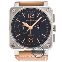 Bell & Ross BR03-94 Golden Heritage Chronograph BR0394-ST-...