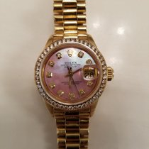 Rolex Oyster perpetual datejust 18K Gold Diamond Pink MOP