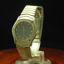 Ebel Classic Wave 18kt 750 Gold / Stahl Damenuhr Inkl Box...
