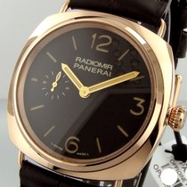 Panerai Unworn  Pam 439 42 Mm 18k Rose Gold Radiomir Tobacco...