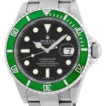 "Rolex Anniversary Green Bezel ""Submariner"" Date."