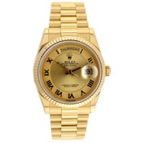 Rolex President Mens New Style Heavy Band Model 118238 In Box...