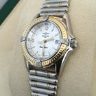 Breitling Callistino Roulleauxband Gold Steel Silver Dial 29 mm