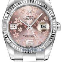 勞力士 (Rolex) Datejust 36mm Stainless Steel 116234 Pink Floral...