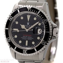 Rolex Vintage RED Submariner Date Mark IV Ref-1680 Stainless...