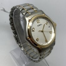 Ebel 1911 1187241.16665P STEEL & SOLID GOLD QUARTZ...
