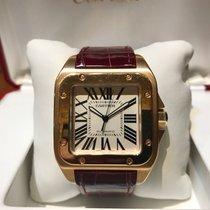 Cartier Santos 100 Automatic Rose Gold B&P