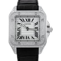 Cartier Santos Triple 100 Mens Manually Wound Automatic Watch...