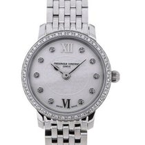Frederique Constant Slim Line Mini Complete Silver Diamond Bezel
