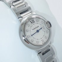 Cartier Ballon Bleu We902073 28mm Ladies Diamond Dial Ss Box...