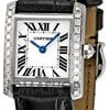Cartier Tank Francaise 18kt White Gold Diamond Ladies Watch...