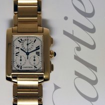 Cartier Tank Francaise 18k Yellow Gold Chronograph Watch On...