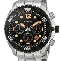 Bulova Sea King Chronograph Stainless Steel Mens Sport Watch...