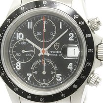 Tudor Polished  Prince Date Chronograph Steel Automatic Mens...