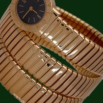 Bulgari Tubogas Serpent Snake  Lady 18k Yellow Gold Box&Pa...