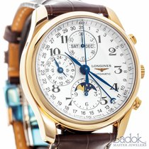Longines Master Collection Chronograph 18k Rose Gold Calendar...