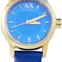 Armani Exchange Blue Dial Leather Ladies Watch Ax6021