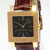 Bulgari Quadrato 18k Yellow Gold Black Dial Ladies Quartz...
